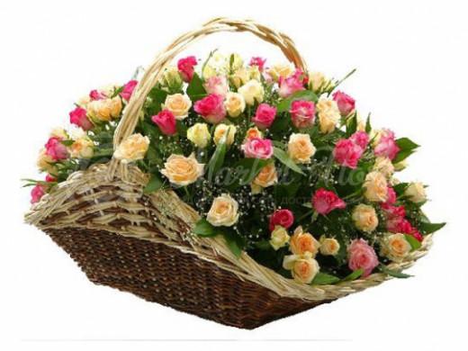 Корзина цветов «Безупречный стиль»