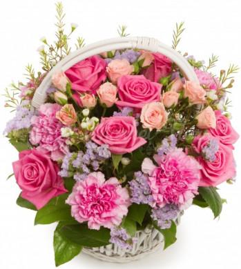 Корзина цветов «Барби»